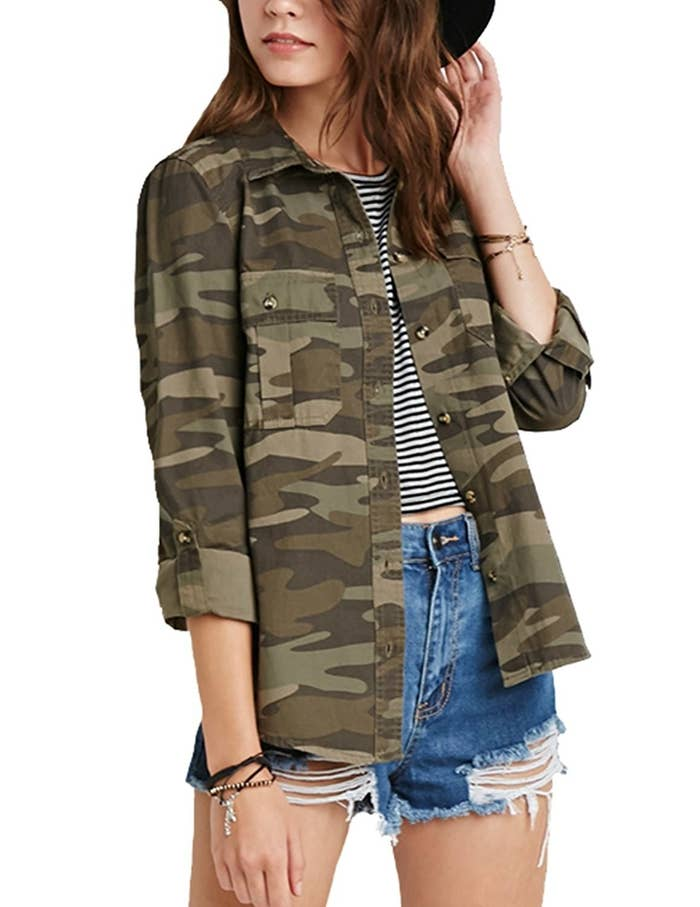 e377581dfd9e6  quot I have an oversized camo button down shirt and I would wear it every