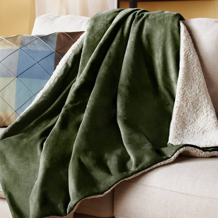 """Promising review: """"This works great. I use it at the foot of the bed to keep my feet warm at night. Works perfectly."""" —MopeyCircleSee our full list of electric blankets here. Get it from Amazon for $55.99+ (available in three colors)."""