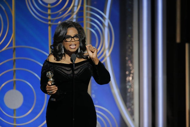 The Golden Globes happened on Sunday night, and there were really two big themes: Hollywood's reckoning with widespread sexual impropriety and Oprah's speech about it after winning the Cecil B. DeMille Award.