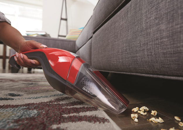 A handheld vacuum cleaner because spills happen.