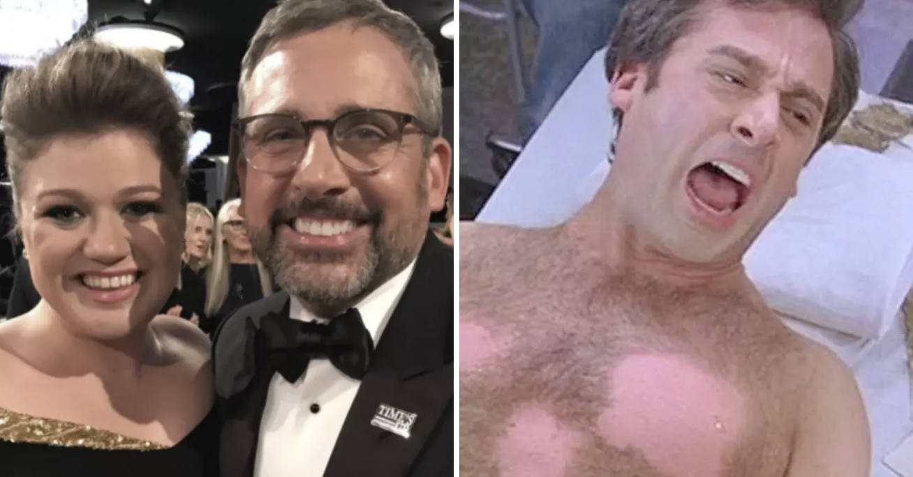"""Kelly Clarkson And Steve Carell Finally Met, And Now """"The 40-Year-Old Virgin"""" Has Come Full Circle"""