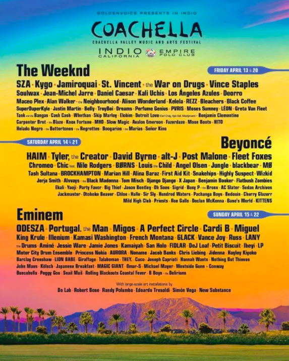 So Coachella recently announced their 2018 lineup.