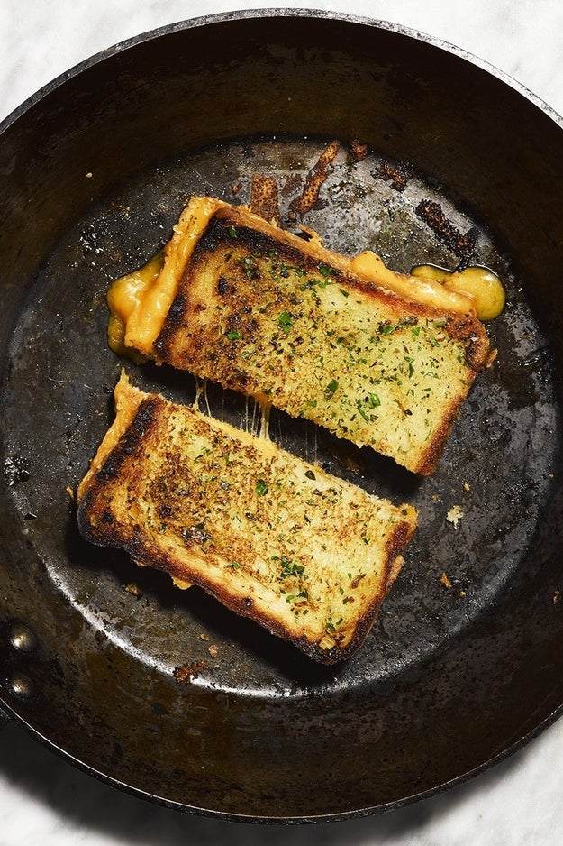 Grilled Cheese on Garlic Bread