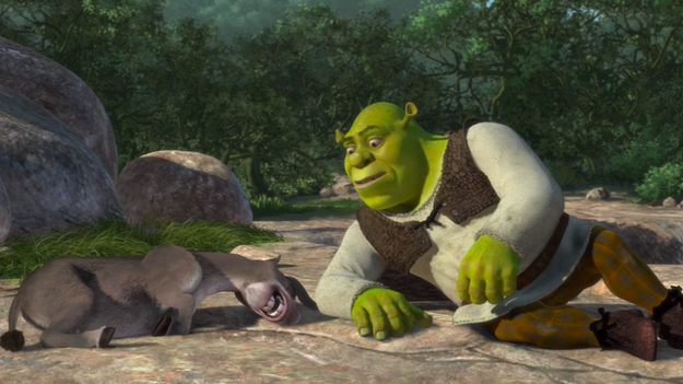 When Shrek overhears Donkey having a ~sexy~ dream...
