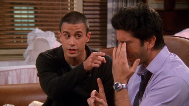 When Ross had a massive problem with employing a male nanny for Emma.