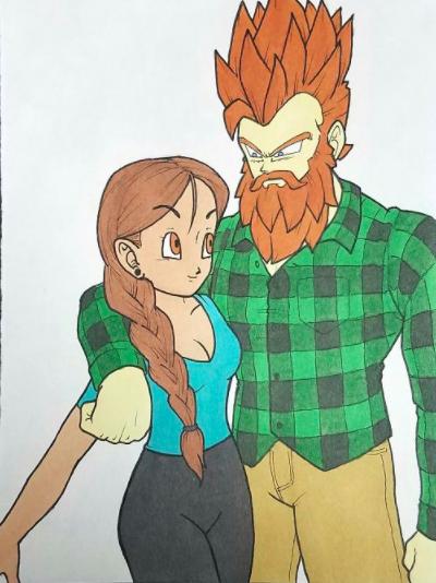 9. He even drew himself and Lindsay like Dragon Ball Z.