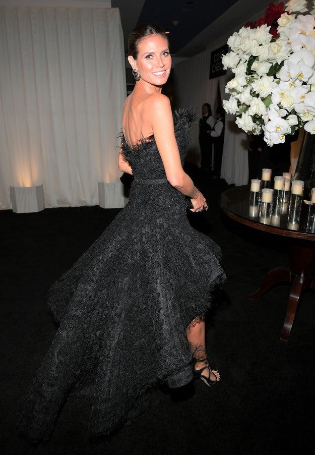 Heidi Klum looked like an actual goddess.