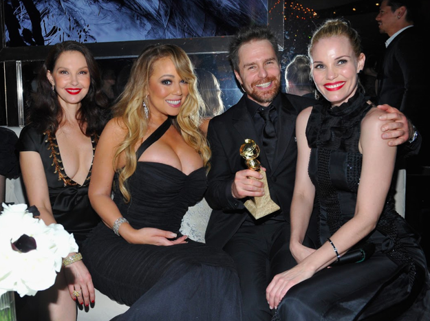 And then hung out with Ashley Judd, Sam Rockwell, and Leslie Bibb at the party.