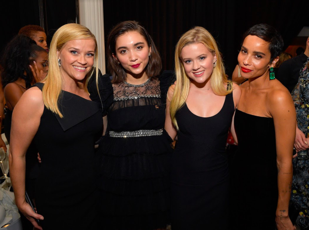 Reese Witherspoon gathered together her daughter Ava and her fellow Time's Up leaders Rowan Blanchard and Zoë Kravitz for this snap.