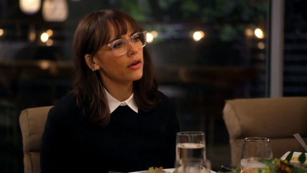 I think Rashida Jones invented glasses, actually.