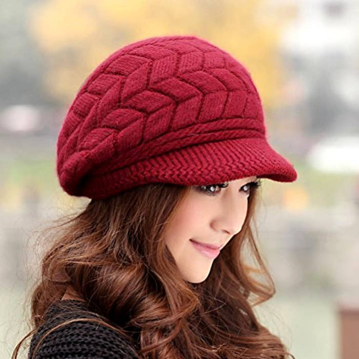 5b976903bbf A stretchy wool-knit cap with TWO layers to finally put a lid on frozen  ears.