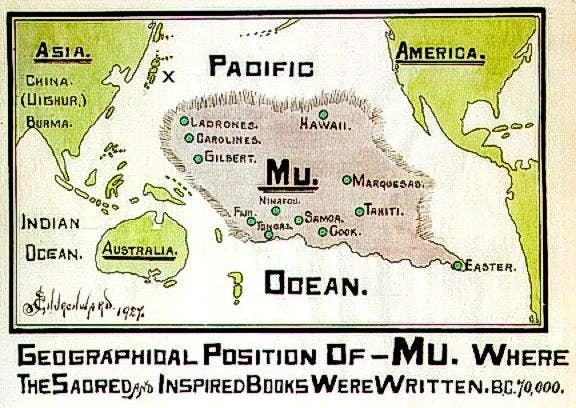In the late 1800s, an enthusiastic but entirely inaccurate archaeologist called Augustus Le Plongeon wrote a treatise claiming that the Mayan civilisation had actually originated on a lost continent called Mu. He also claimed that ancient Egypt was founded by a Mu refugee based on, er, no evidence. Who needs facts, eh?