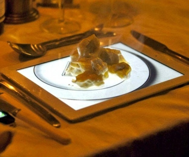 Why use an iPad with an image of a plate when you can just use a plate?
