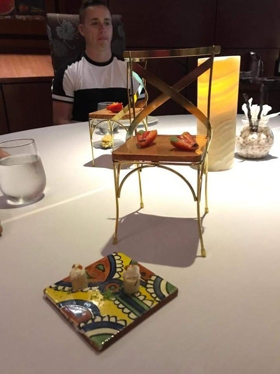 Why use a tiny golden chair when you can just use a plate?