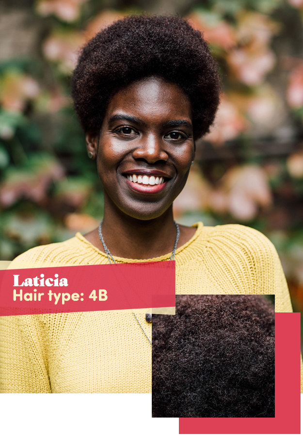 Laticia was next. Her biggest hair-care concerns were color-damaged, dry ends and an overall lack of curl definition.