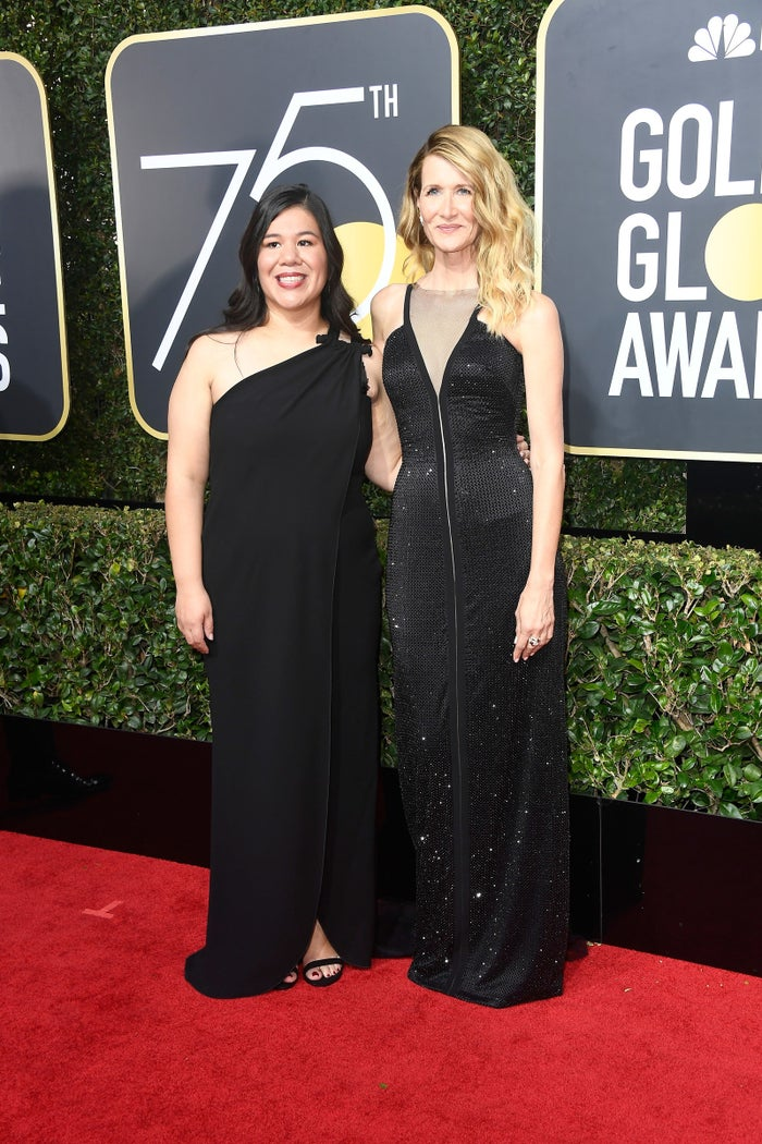 Mónica Ramírez and Laura Dern