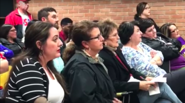 """""""I have a serious issue with a superintendent or any person in a position of leadership getting any type of raise,"""" Hargrave told the board. """"I feel like it's a slap in the face of all the teachers, cafeteria workers, and any other support staff. We work very hard with very little to maintain the salaries that we have."""""""