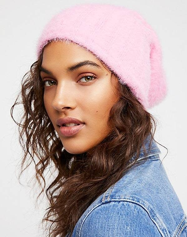 "Promising review: ""It's cozy, soft, and versatile — everything I have ever wanted in a beanie. SO SOFT. It can be worn slouchy or fitted. I get a lot of compliments. Also, my head is on the larger size, and this stretched effortlessly to fit."" —lgstyleGet it from Free People for $29.95 (originally $38)."