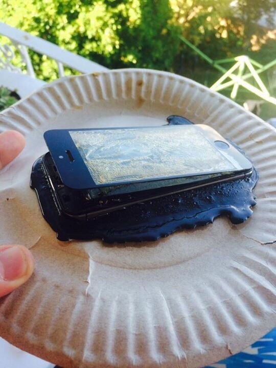And this person who's literally melted their device:
