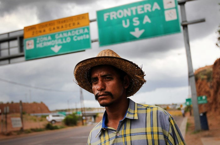 Luis Manuel, 29, walks along the US–Mexico border after being deported from Arizona to Nogales, Mexico, on July 27, 2010.