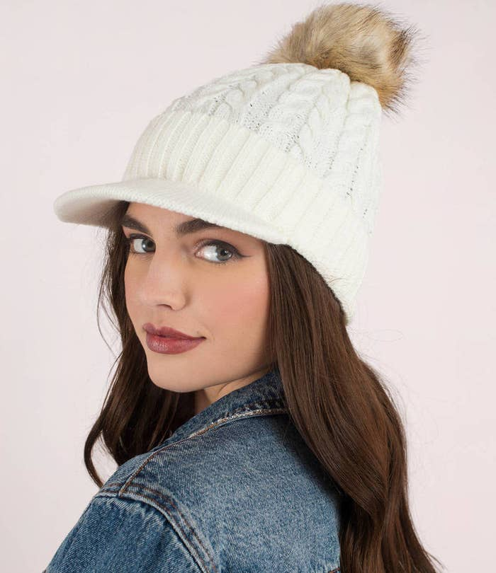 A beanie-cap combo so you can participate in a trend better than the  weatherman s report. 96b315b788df