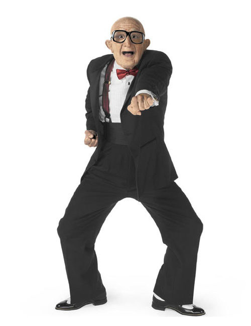 Honestly Its Time To Tell Everyone You Know That The Dancing Old Man From The Six Flags Commercials Is