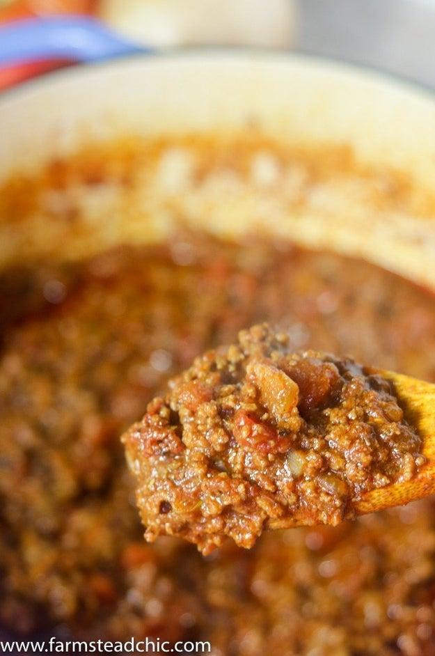 8-Ingredient Chili