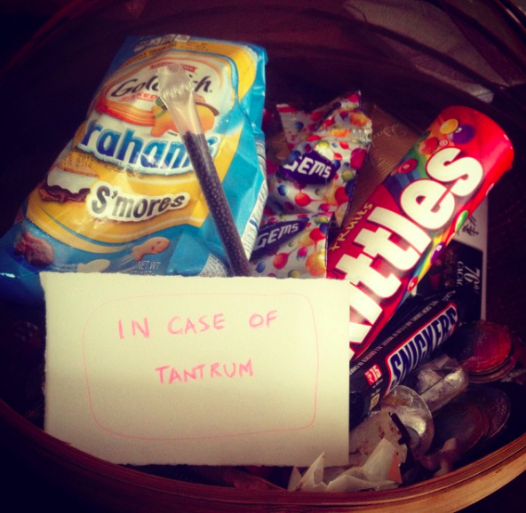 Maybe you keep a hidden stash of reinforcements nearby for surviving a rough day of parenting.