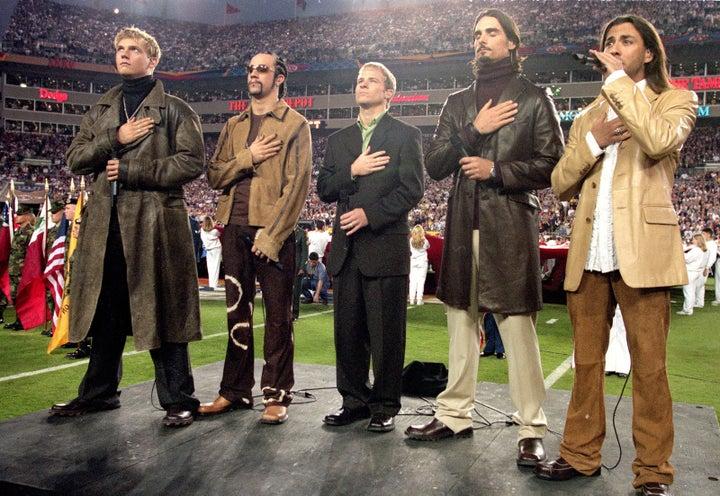 Jan. 28, 2001 — the Backstreet Boys at Super Bowl XXXV in Tampa