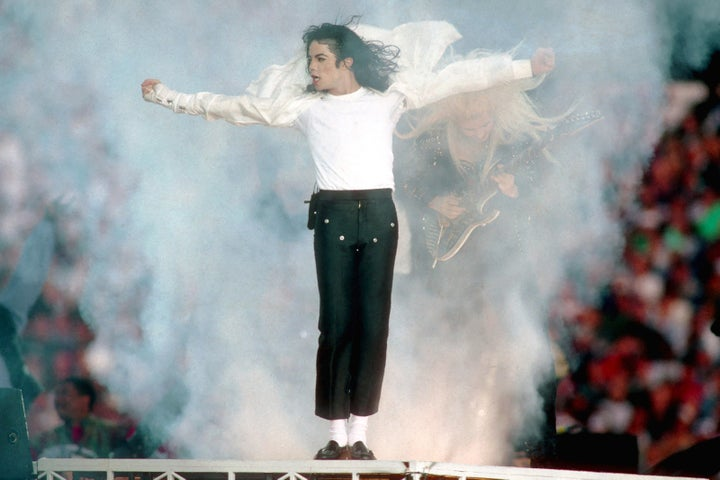 Jan. 31, 1993 — Michael Jackson at Super Bowl XXVII in Pasadena California