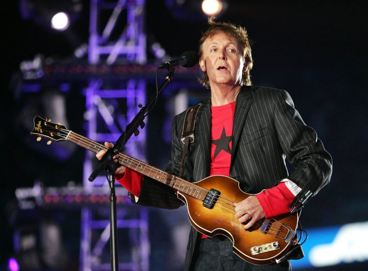Feb. 6, 2005 — Paul McCartney at Super Bowl XXXIX in Jacksonville, Florida