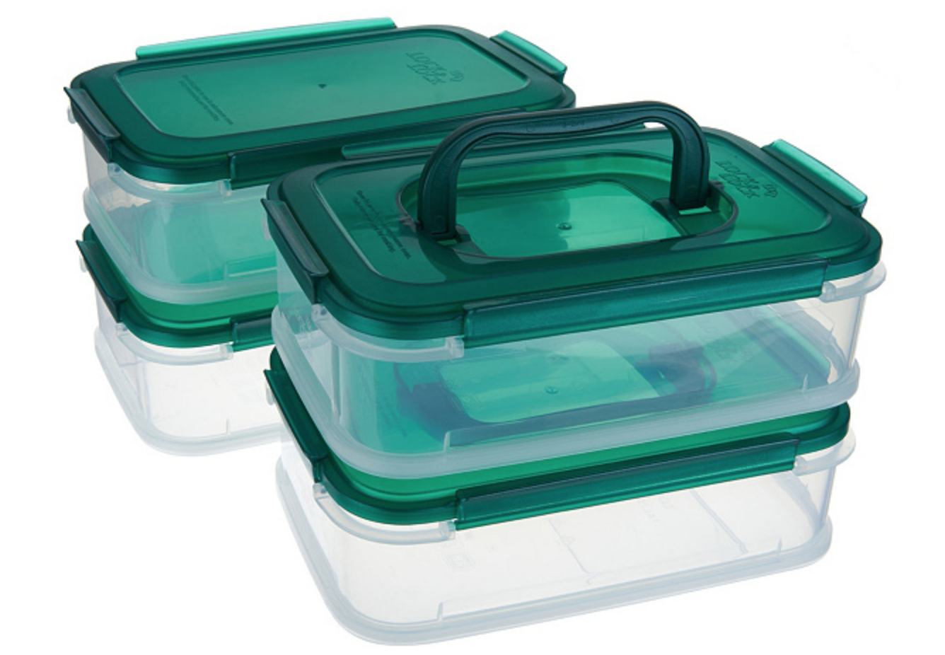 A stackable four-piece set with handles — and it's dishwasher safe and easy to clean.