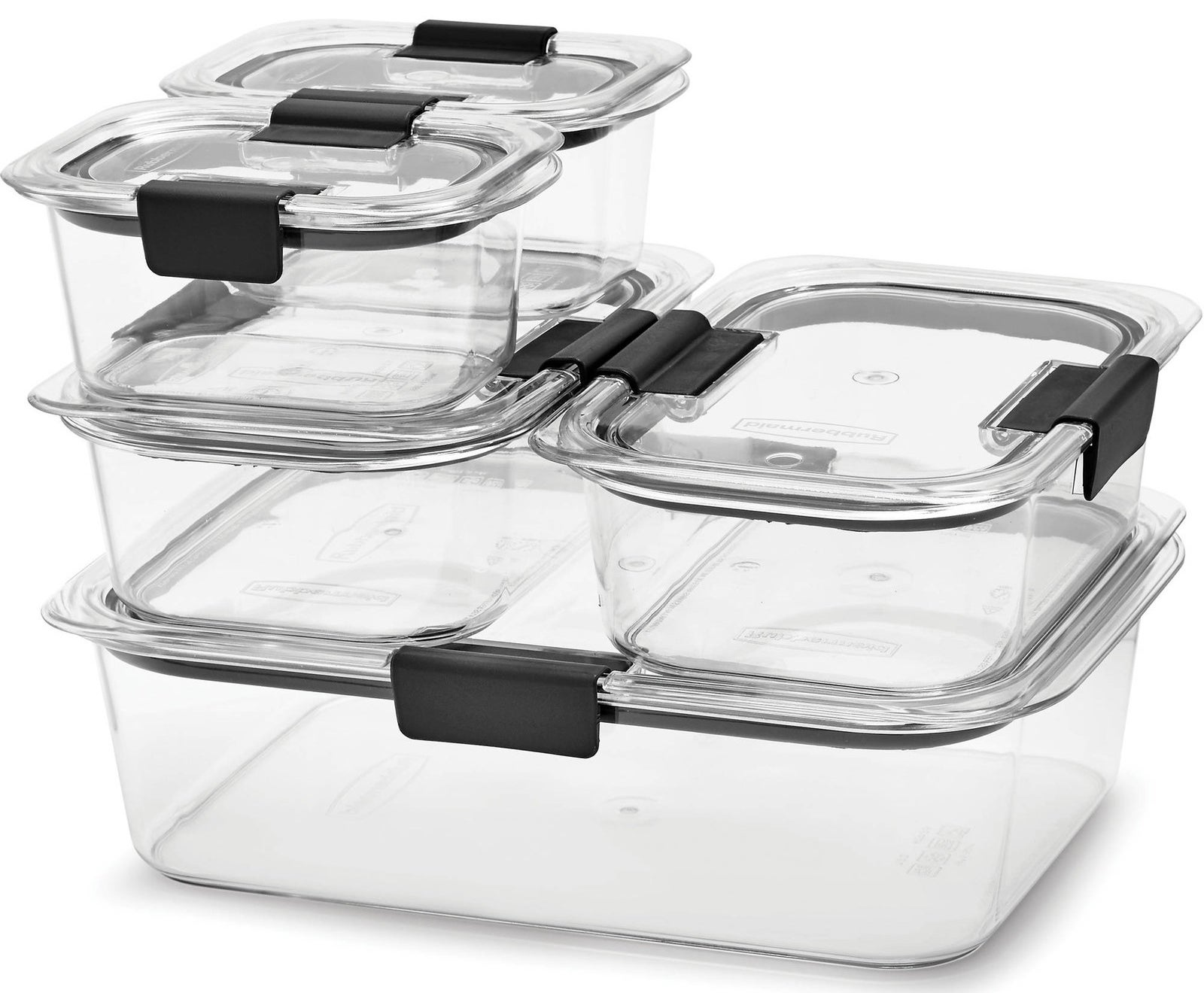 A 10-piece set with built-in steam vents so you can microwave food without removing the lid.