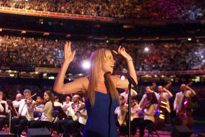 Feb. 3, 2002 — Mariah Carey at Super Bowl XXXVI in New Orleans