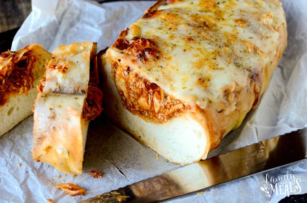 BBQ Chicken-Stuffed Bread