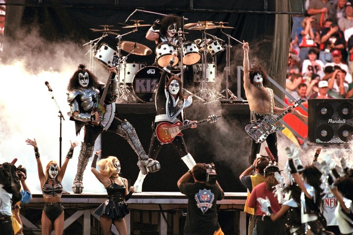 Jan. 31, 1999 — KISS at Super Bowl XXXIII in Miami