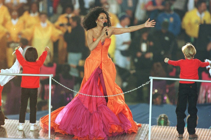 Jan. 28, 1996 — Diana Ross at Super Bowl XXX in Tempe, Arizona