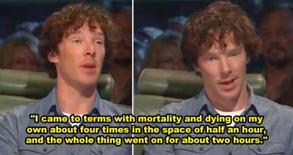 Benedict Cumberbatch was abducted by six men with guns while filming a show in South Africa in 2005.