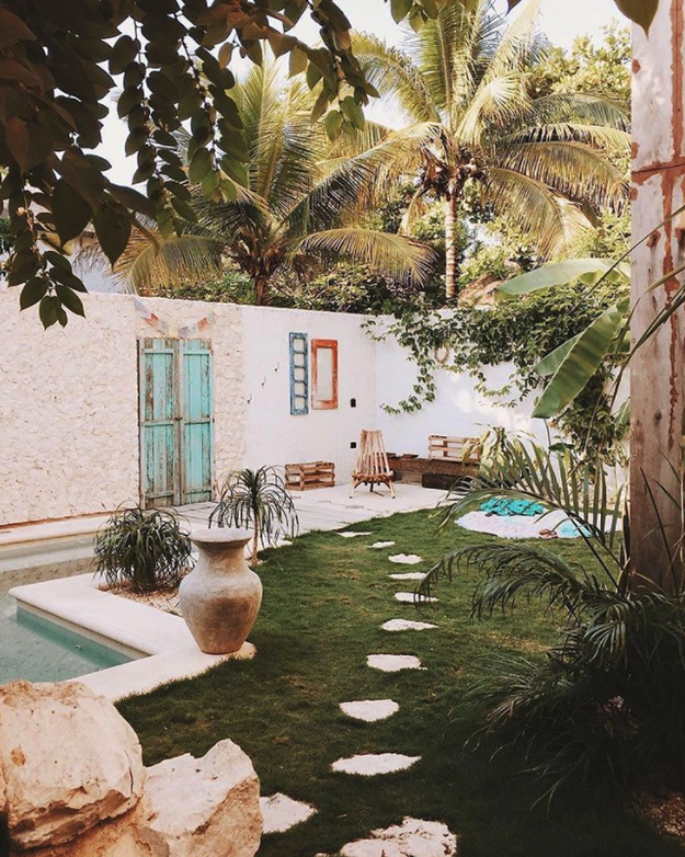 In Tulum, Mexico, this pastel-soaked apartment is currently listed for $89 per night: