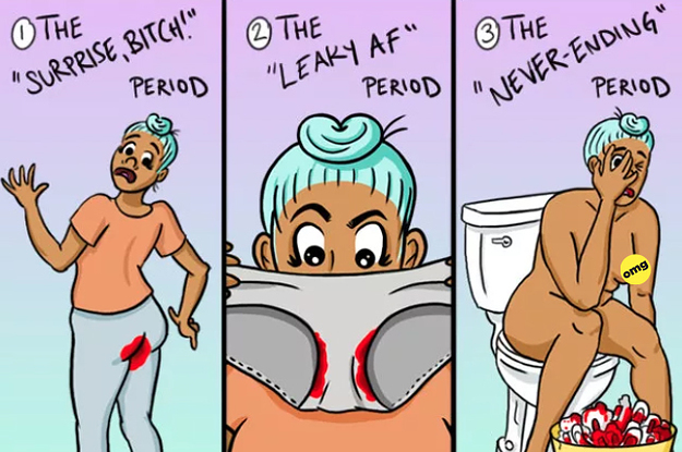 25 Comics You Will Only Get If Your Vagina Bleeds