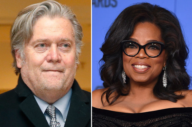 Steve Bannon Watched The Golden Globes And Is Convinced Oprah Will Destroy Trump