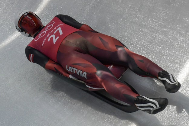 These moose knuckles, aka male bullllllges, flying effortlessly down the Olympic luge track, are a thing to behold.