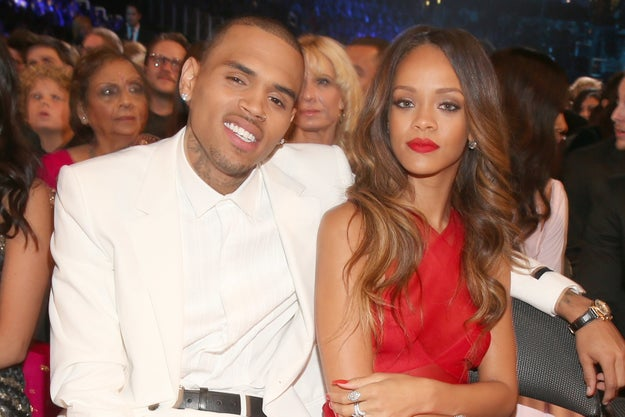 Now, in case you didn't know: Rihanna and Chris Brown used to date.