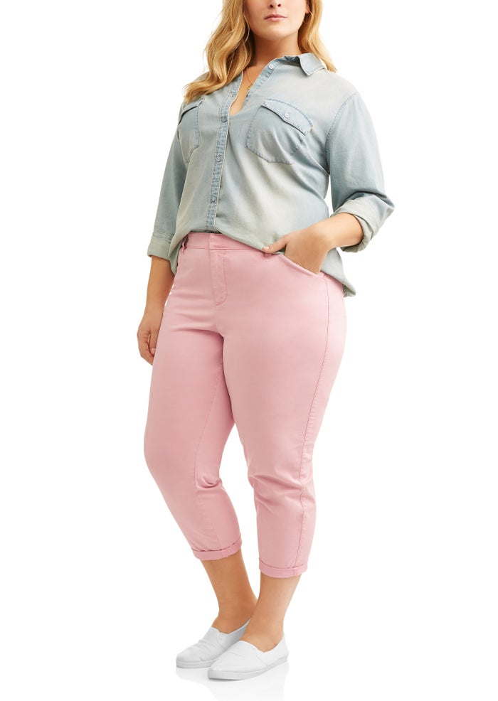 "Promising Review: ""I absolutely LOVE these pants! Their fit is amazing! They are also soft and comfy and fit over my rear so well!! I wear a size 20 and they run true to size. I loved these so much I purchased every color."" —FiercelyFashionablePrice: $16.84 (available in sizes 14W–26W and four colors)"