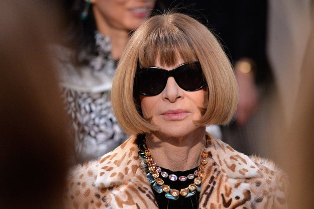 This is Anna Wintour. She's the editor-in-chief of Vogue and an absolute style icon.