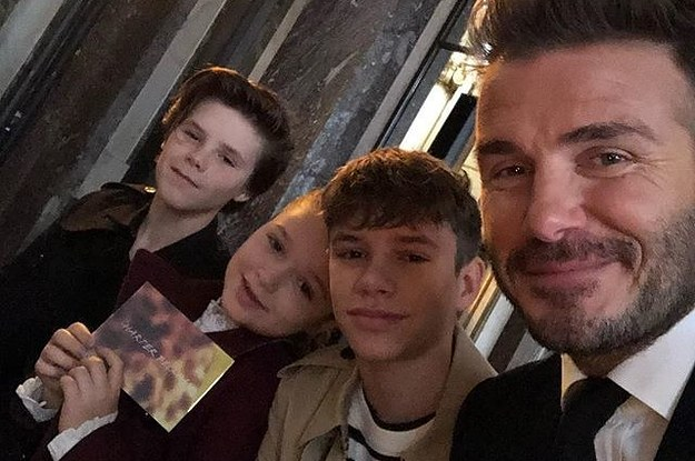 I Thought I Was Dead But Then I Saw This Picture Of The Beckhams And Suddenly My Heart Is Beating Again