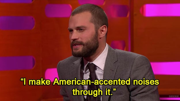 When he was talking about filming Fifty Shades Darker and described it like this: