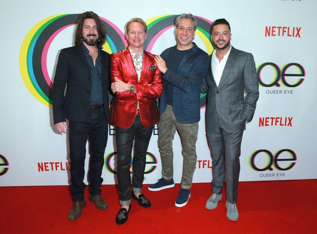 And here they are all together again (minus Ted) at the premiere of the new Queer Eye!