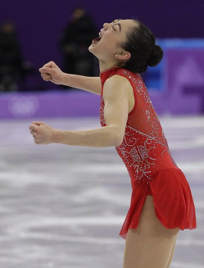 奥运史上第一位成功完成「3周半跳」的美国亚裔女选手,滑冰女将激动落泪! -5a82876f084a8
