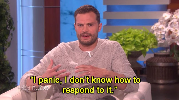 When he was the opposite of Christian's cool demeanor and said he panics when fans approach him while quoting Fifty Shades lines: